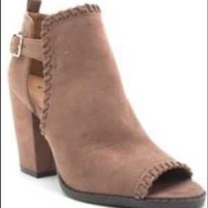 Taupe booties size 7